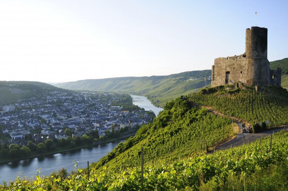 Landshut Castle, Cityscape, Rooftops, Bernkastel Kues, Rhineland-Palatinate, Germany