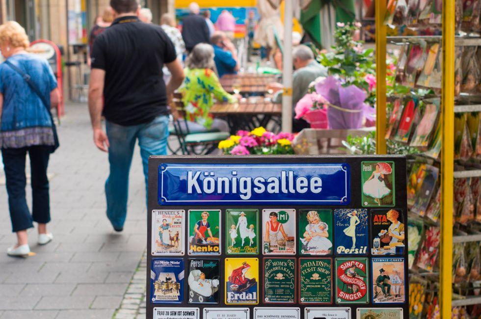 Konigsallee, Dusseldorf, The Rhineland, Germany, Europe.