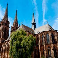 Elisabethkirche, Marburg, The Fairy-Tale Road, Germany, Europe.