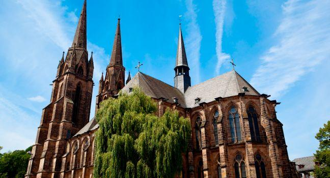 Elisabethkirche, Marburg, The Fairy-Tale Road, Germany, Europe.