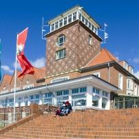 Steps, Restaurant, Strandhalle, Bremerhaven, The Fairy Tale Road, Germany,