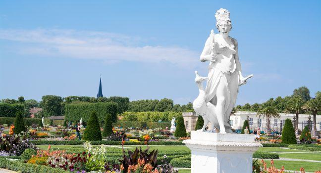 Herrenhausen Palace and Gardens, Hannover, The Fairy-Tale Road, Germany, Europe.