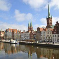 Waterfront, Lubeck, Schleswig-Holstein and the Baltic Coast, Germany, Europe.