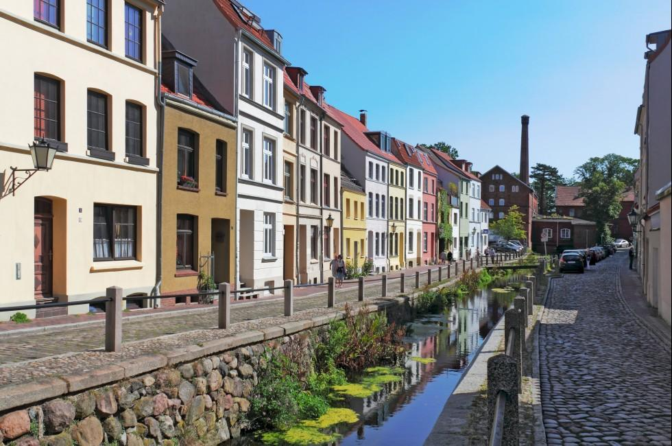 Canal, Street, Wismar, Scleswig Holstien and the Baltic Coast, Germany