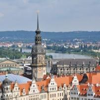 Rooftops, Cityscape, Dresden, Saxony, Germany