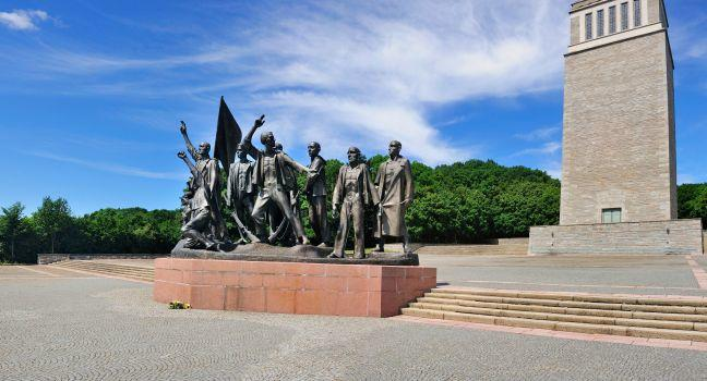 Buchenwald Holocaust Memorial, Weimar, Saxony, Saxony-Anhalt, and, Thuringia, Germany, Europe.