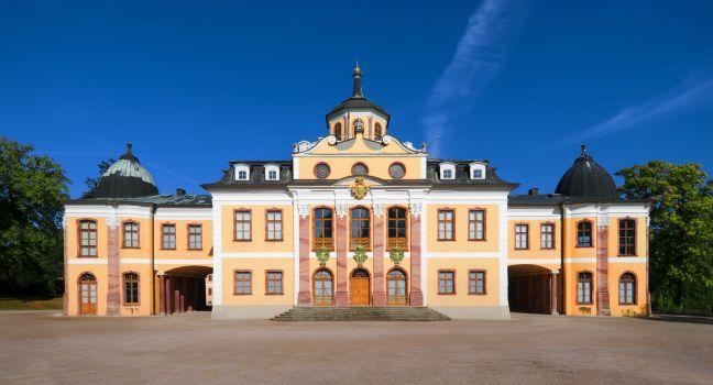 Schloss Belvedere, Weimar, Saxony, Saxony-Anhalt, and, Thuringia, Germany, Europe.