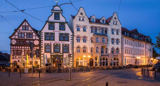 Domplatz, Erfurt, Saxony, Saxony-Anhalt, and, Thuringia, Germany, Europe.