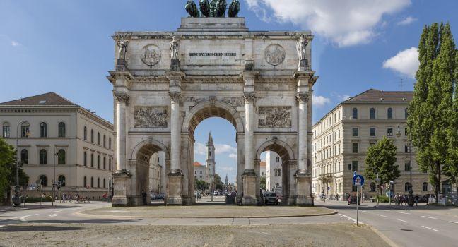 Street, Arch, Seigestor, Munich, Germany