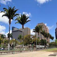 Downtown Honolulu, Honolulu, Honolulu and Oahu, Hawaii, USA.
