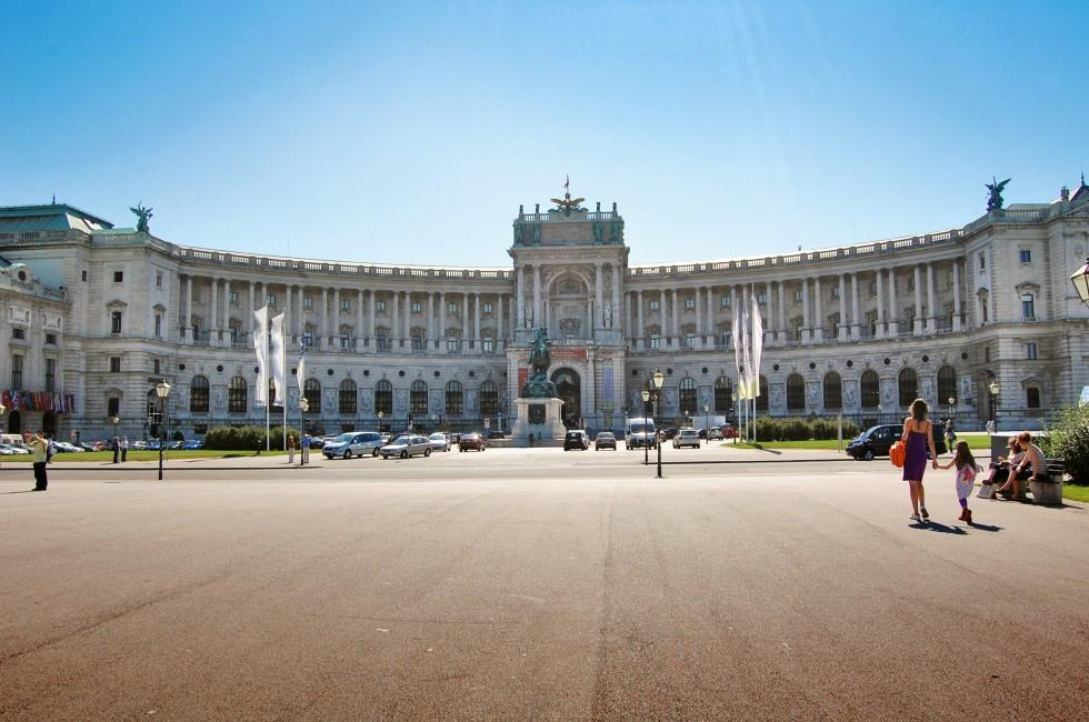 Facade, Hofburg, Vienna, Austria