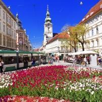 Main City Square, Hauptplatz, Graz, Austria