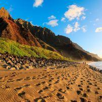 Kalalau beach, North Shore Kauai, Kauai, Hawaii, USA.