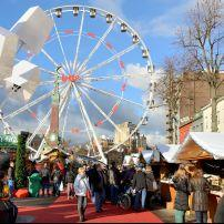 Christmas Market, Vismet Square, Brussels, Belgium