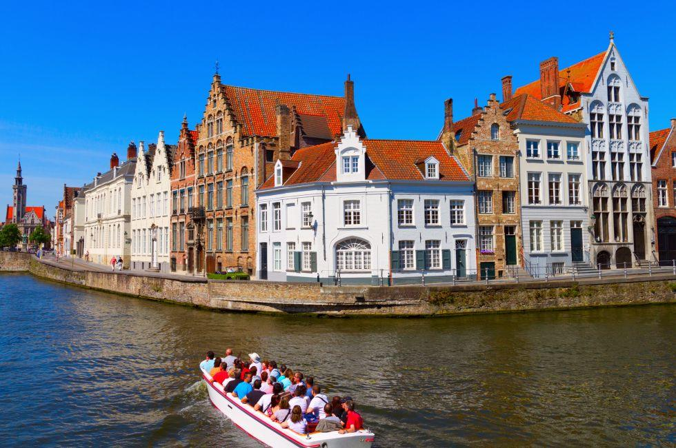 Boat, Canals, Brugge, Belgium