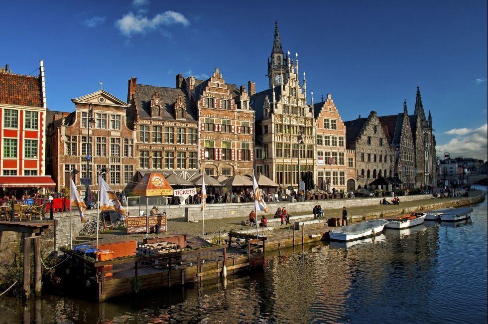 Dock, River, Gent, Belgium