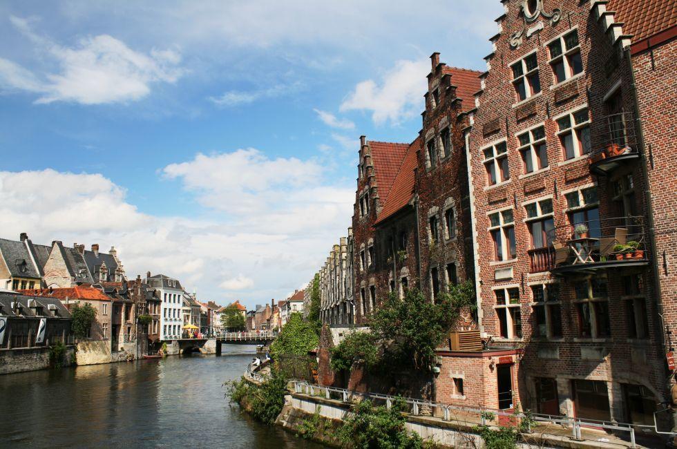 Houses, River, Gent, Belgium