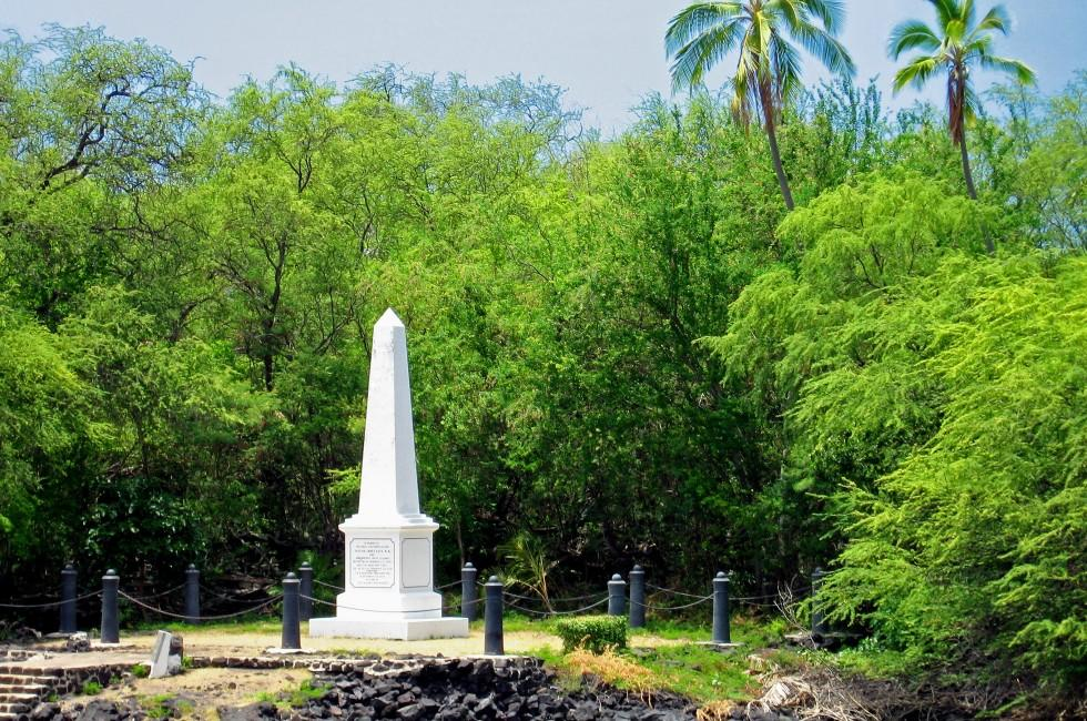Captain Cook's Monument, Big Island, Hawaii, USA