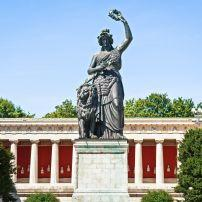 Bavaria Statue, Ludwigvorstadt, Munich, Germany, Europe.