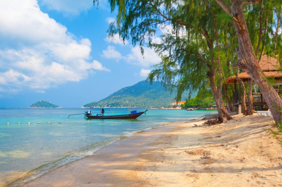 Boat, Beach, Koh Tao, The Gulf Coast Beaches, Thailand