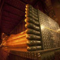 Reclining Buddha, Wat Pho, The Old City, Bangkok, Thailand, Asia.