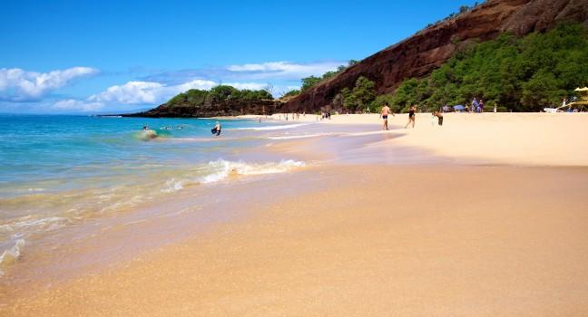 Beach Makena State Park Maui Hawaii Usa