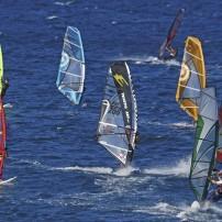 Windsurfing, Hookipa Beach Park, North Shore Maui, Maui, Hawaii, USA