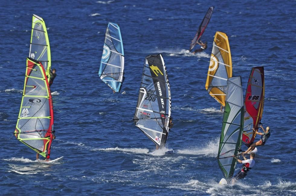 Windsurfing, Hookipa Beach Park, North Shore Maui, Maui, Hawaii, USA