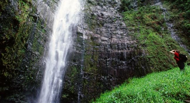 Oheo Gulch Waterfall, Haleakala National Park, Maui, Hawaii, USA