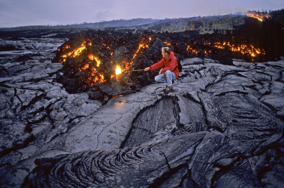 Volcanologist, Hawaii Volcanoes National Park, Big Island, Hawaii, USA