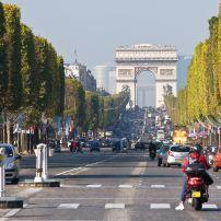 Street, Arc de Triomphe, Champs-elysees, Paris, France