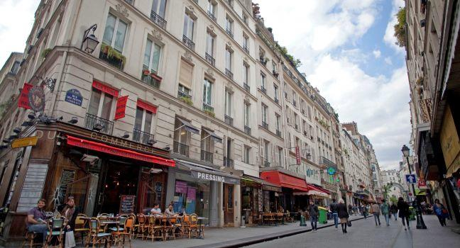 Shops, Rue Montorgueil, Paris, France