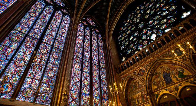 Stained Glass, Interior, Sainte-Chapelle, Paris, France