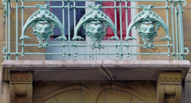 Railing, Castel-Beranger, Paris, France