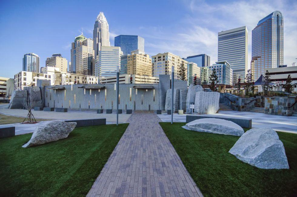 Romare Bearden Park, Charlotte, North Carolina, USA