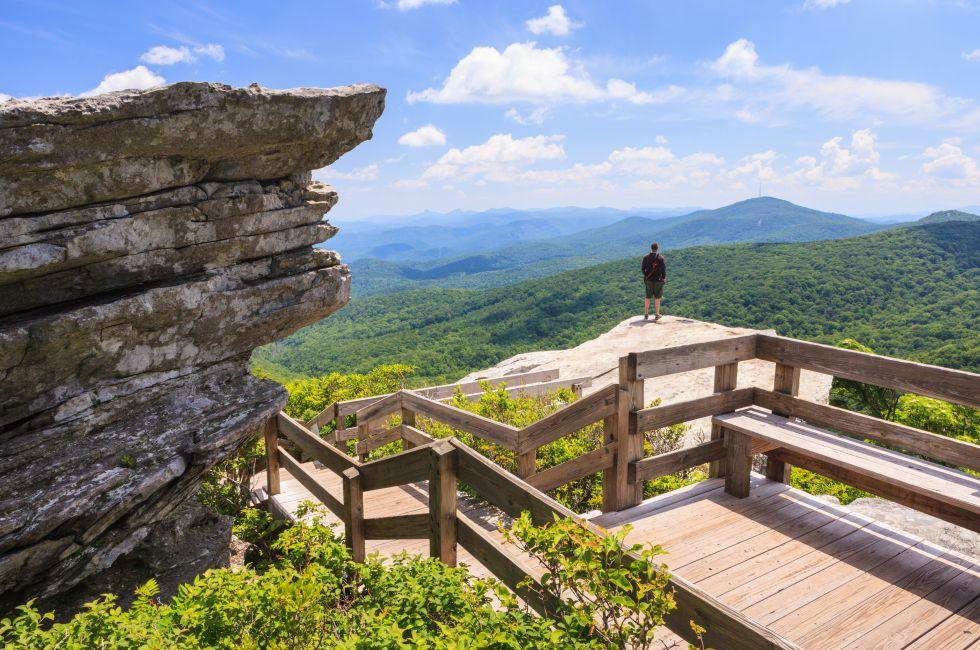 Rough Ridge Overlook, Grandfather Mountain, Pisgah Forest, Blue Ridge Parkway, Boone, North Carolina