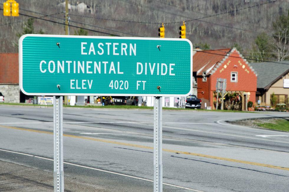 Eastern Continental Divide Sign, Banner Elk, North Carolina