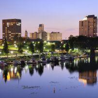 Cityscape, Savannah River, Augusta, Georgia, USA