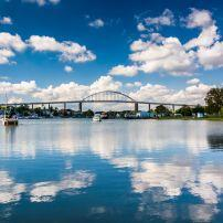 Bridge, Chesapeake City Bridge, Chesapeake and Delaware Canal, Chesapeake City, Maryland