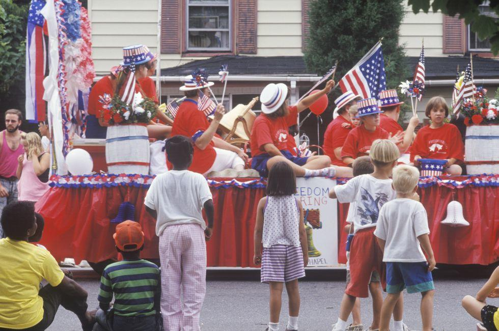 Float, July 4th Parade, Rock Hall, Maryland
