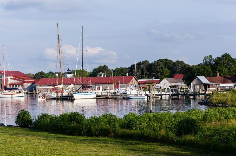 Yachts, Boats, Harbor, St. Michaels, Chesapeake Bay, Maryland