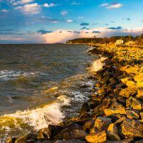 Rocks, Chesapeake Bay, Tilghman Island, Maryland