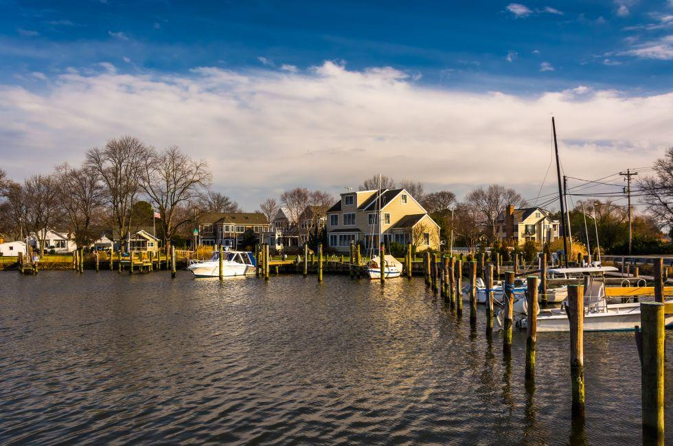 Boats, Harbor, Oxford, Maryland