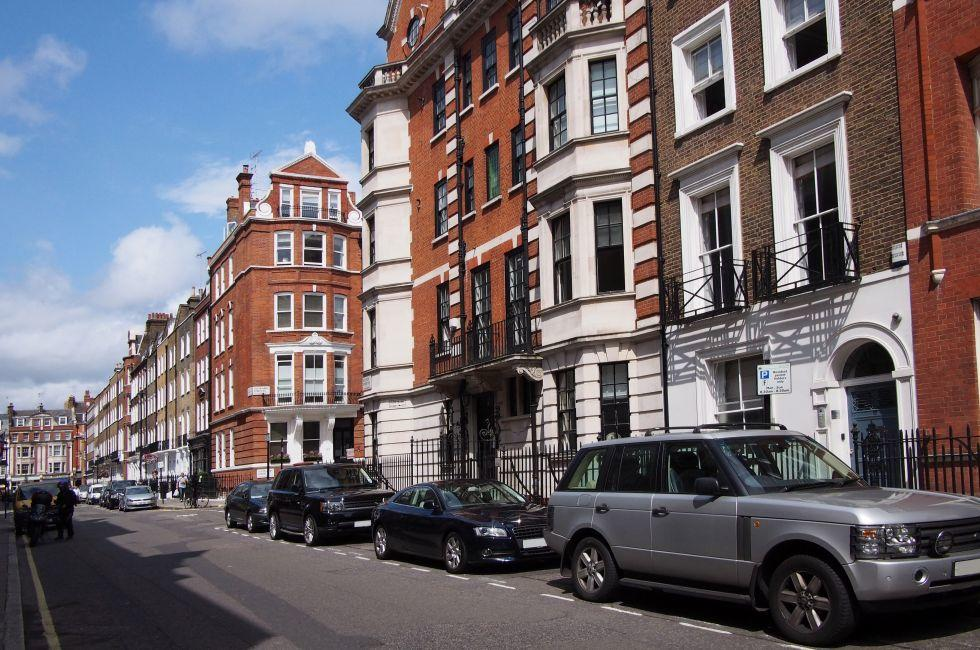 Apartment Buildings, Fitzrovia, London, England