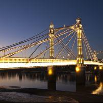 Albert Bridge, Chelsea, London, England