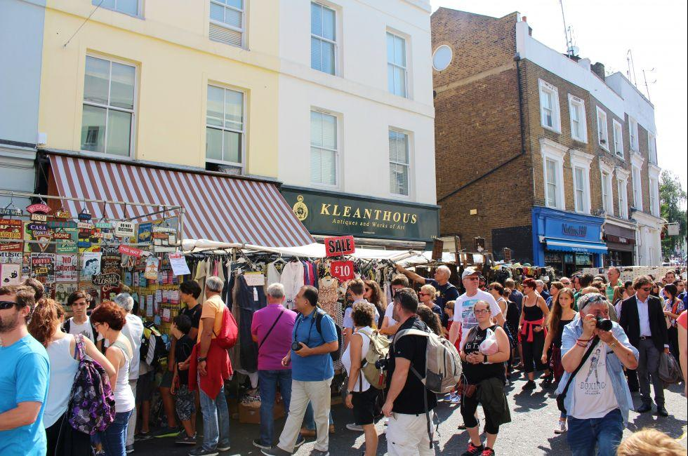 Portobello Road Market, Notting Hill, London, England.