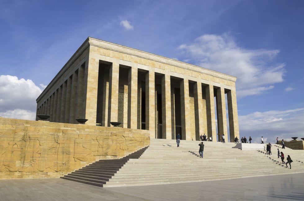 Mustafa Kemal Ataturk mausoleum, Ankara, Turkey.