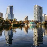 Skyline, Lake Eola, Orlando, Florida, USA