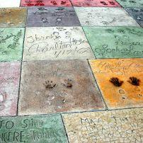 Footprints outside of TCL Chinese Theater, Hollywood and Vicinity, Hollywood, Los Angeles, California, USA.