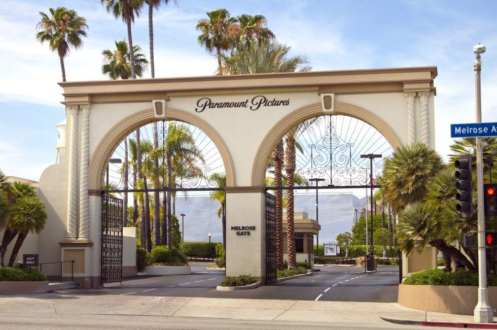 Studio Entrance, Paramount Pictures, Hollywood and Vicinity, Hollywood, Los Angeles, California, USA.
